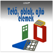 LEGO Tető, ajtó, ablak elemek