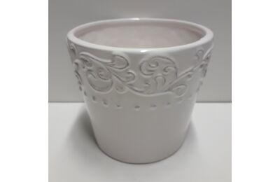 Kerámia kaspó - virág mintás