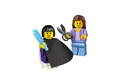 LEGO minifigura - Fodrászat