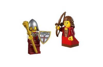 LEGO minifigura - Lovag és íjász lány