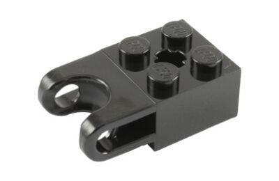 LEGO technic, kocka, módosított, 2 x 2, gömbcsukló csatlakozóval és tengelycsatlakozóval
