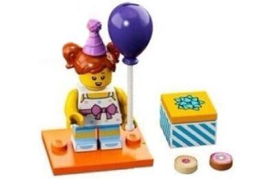 LEGO minifigura - Születésnapi parti lány
