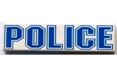 "LEGO csempe 1 x 4, ""POLICE"" felirattal"
