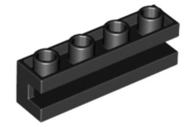 LEGO kocka, módosított, 1 x 4, oldalán bevágással