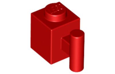 LEGO kocka, módosított, 1 x 1, függőleges karral