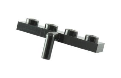 LEGO alaplap, módosított, 1 x 4, lefele álló karral