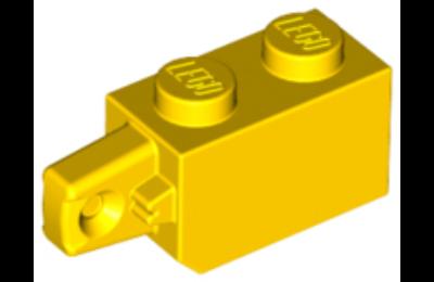 LEGO zsanér kocka, 1 x 2, 1 függőleges karral a végén