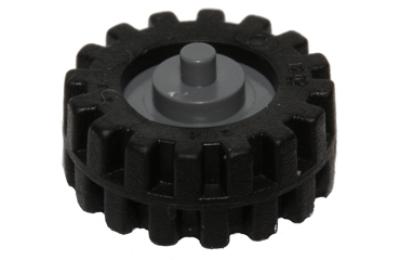 LEGO kerék, gumi és felni, 15 x 6, csigakerékkel, komplett
