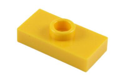 LEGO alaplap, módosított 1 x 2, csatlakozóval a tetején, típus 2 (jumper)
