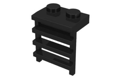 LEGO alaplap, módosított 1/2 x 2 x 2 létrával