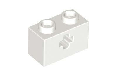 "LEGO technic, kocka 1 x 2, ""X"" lyukkal"