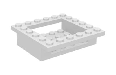 LEGO kocka, módosított, 6 x 6 x 1, pilótafülke alap