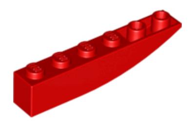 LEGO tető/lejtő inverz 6 x 1