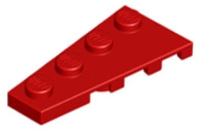 LEGO alaplap, ferde, 4 x 2 balos