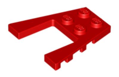 LEGO alaplap, ferde, 4 x 4, bevágással
