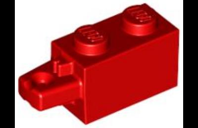 LEGO zsanér kocka, 1 x 2, 1 vízszintes karral a végén