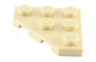 LEGO alaplap, ferde, 3 x 3, vágott sarokkal