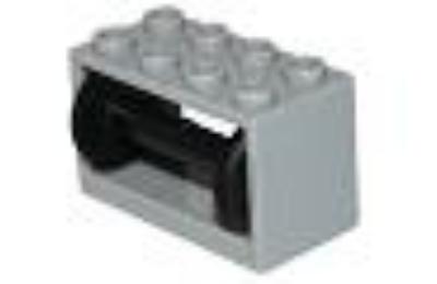 LEGO orsó tartó dobbal, komplett, 2 x 4 x 2