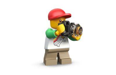 LEGO zsanér, henger, 1 x 2, 1 karral