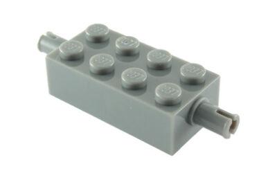 LEGO kocka módosított, 2 x 4, keréktartó csatlakozóval