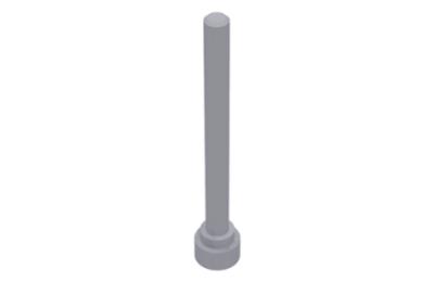 LEGO antenna 1 x 4 - teteje lapos