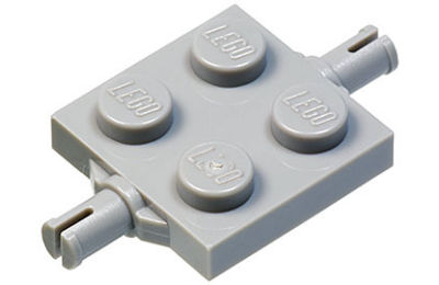 LEGO alaplap módosított, 2 x 2, keréktartó csatlakozóval