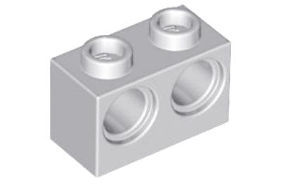 LEGO technic, kocka 1 x 2, 2 lyukkal