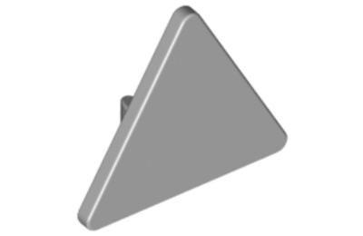 LEGO útjelző tábla, 2 x 2, háromszög (hátulján csatlakozóval)