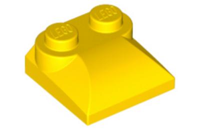LEGO tető, íves 2 x 2 x 2/3, felső csatlakozóval