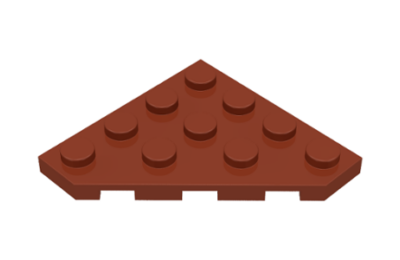 LEGO alaplap, ferde, 4 x 4, vágott sarokkal