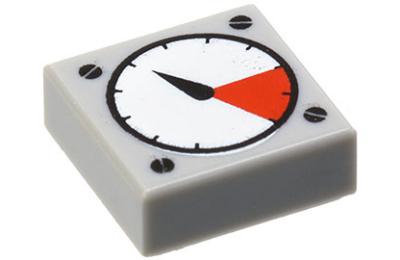 LEGO csempe 1 x 1, dekorált, mérőműszer
