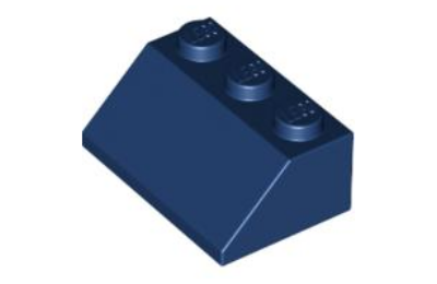 LEGO tető/lejtő 45 2 x 3
