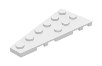 LEGO alaplap, ferde, 6 x 3, balos