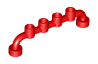 LEGO Kerítés 1 x 6  zárt  csatlakozókkal