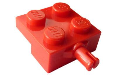 LEGO alaplap, módosított 2 x 2, keréktartóval