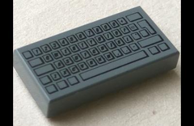 LEGO csempe 1 x 2, dekorált, klaviatura