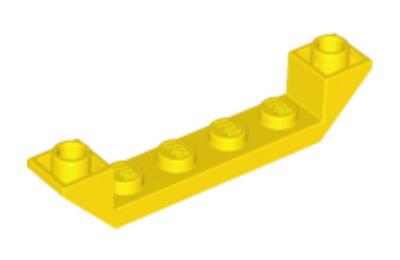 LEGO lejtő, fordított 45 6 x 1, dupla