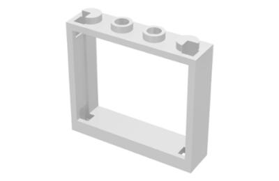 LEGO Ablakkeret 1 x 4 x 3  redőnytartó nélkül