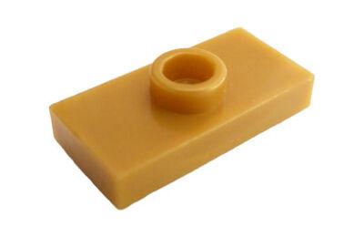 LEGO alaplap, módosított 1 x 2, csatlakozóval a tetején, típus 3 (jumper)
