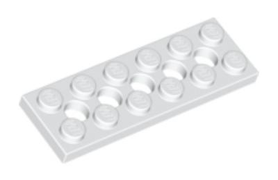 LEGO technic, alaplap 2 x 6, 5 lyukkal