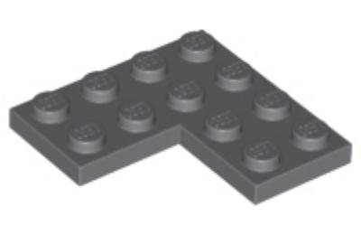 LEGO alaplap 4 x 4 sarok