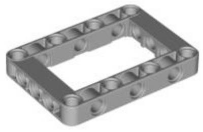 LEGO technic, mozgó kar 5 x 7, nyitott középső résszel