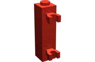 LEGO kocka, módosított, 1 x 1 x 3, 2 vízszintes csatlakozóval, típus 1