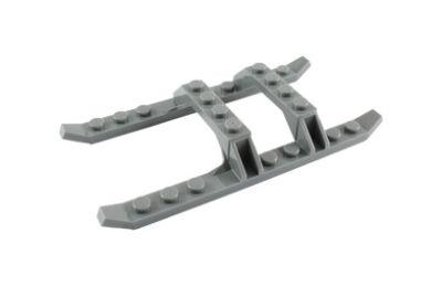 LEGO alaplap, módosított, 12 x 6, helikopter talp