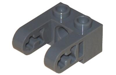 LEGO technic, kocka, módosított, 1 x 2, csatlakozó lyukkal és 2 mozgókarral