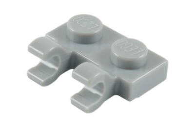 LEGO alaplap, módosított, 1 x 2, 2 függőleges O klippel