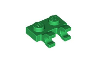 LEGO alaplap, módosított, 1 x 2, 2 függőleges U klippel
