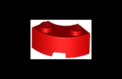 LEGO kocka, módosított, 2 x 2, íves sarok