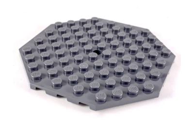 LEGO alaplap, módosított, 10 x 10 nyolcszögletű,  lyukkal