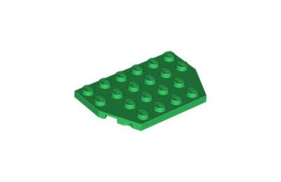 LEGO alaplap, ferde, 4 x 6, vágott sarokkal